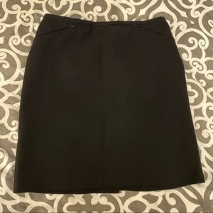 Black dressy skirt with back zipper and back slit